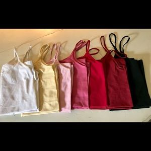 Assortment of 7 stretch camisoles size small